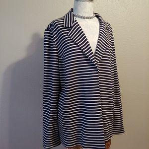 Marina Rinaldi Sport XL Striped Jersey Jacket